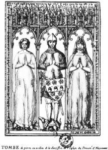 Guillaume Tirel, entouré de ses deux femmes