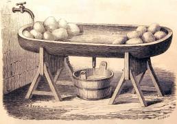 Grande jatte à laver et à saler le beurre, usitée chez les marchands de beurre du Calvados